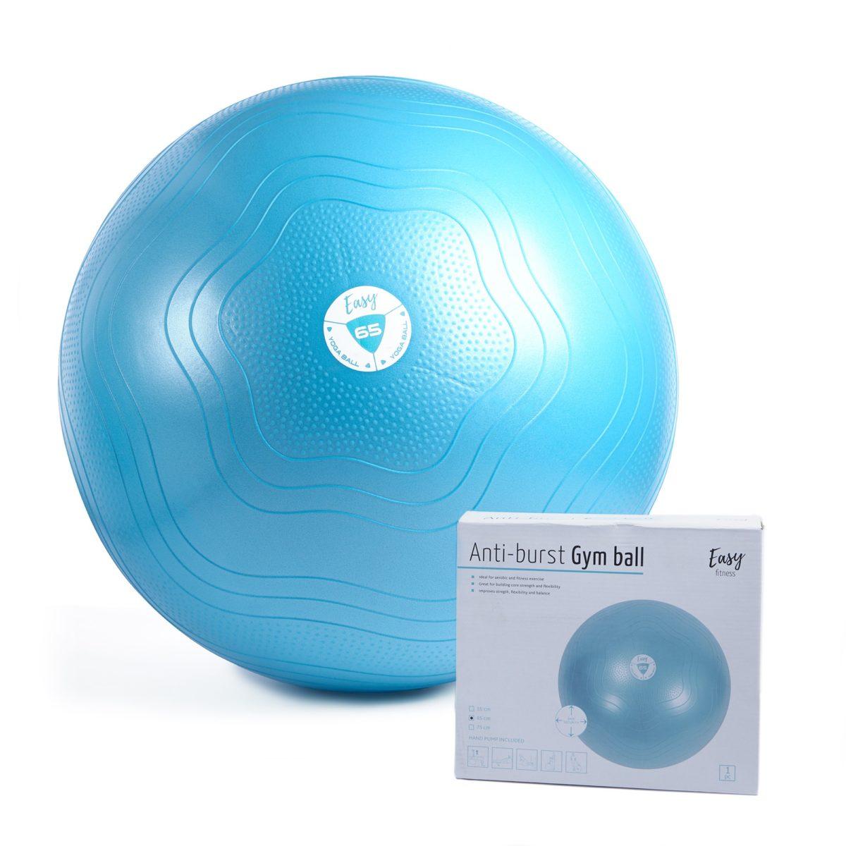 GYM BALL EASY FITNESS : Kolor - Niebieski, Pozostałe - 65cm