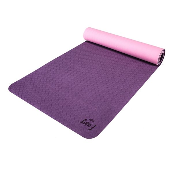 DOUBLE LAYER YOGA MAT 6MM EASY YOGA : Kolor - Fioletowy
