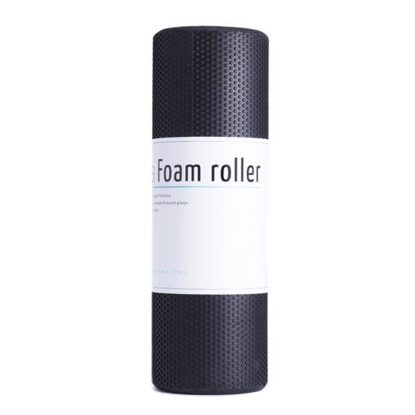 MASSAGE ROLLER  45CM EASY FITNESS : Kolor - Czarny, Twardość - Średni