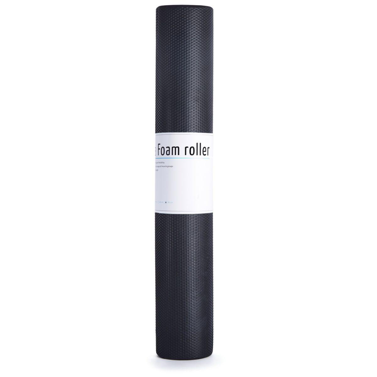 MASSAGE ROLLER EASY FITNESS 90CM EASY FITNESS : Kolor - Czarny, Twardość - Średni
