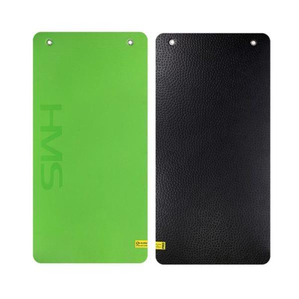 Club fitness mat with holes HMS Premium MFK01 Green-Black