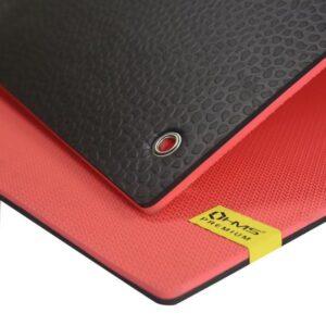 Club fitness mat with holes HMS Premium MFK03 Red-Black