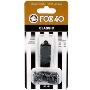 FOX Classic whistle + string 9901-0008 black