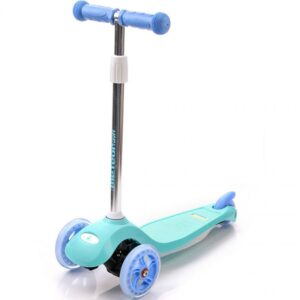 Tricycle scooter with Meteor Shift wheels blue and mint 22799