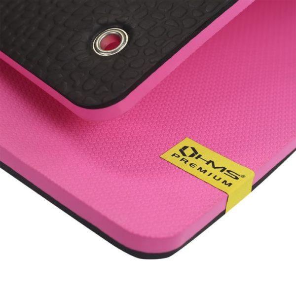 Club fitness mat with holes HMS Premium MFK02 Pink-Black