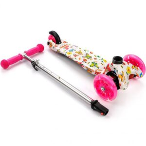 Tricycle scooter with wheels Led Meteor Tucan butterflies 22505