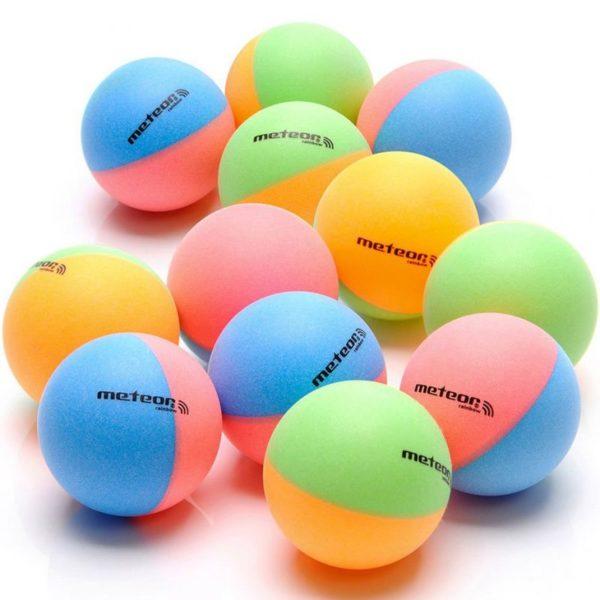 Set of 12 ping pong balls Meteor Rainbow 15025