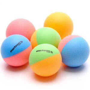 A set of 6 ping pong balls Meteor Rainbow 15027