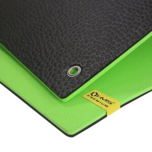 Club fitness mat with holes HMS Premium MFK03 Green-Black