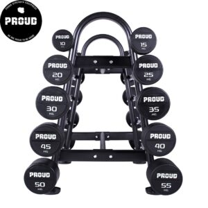 RUBBER FIXED CURL BARBELL SET PROUD : Waga - Set 10-30kg