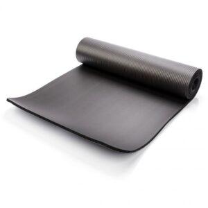 Yoga mat Meteor 183x61x1cm black 30216