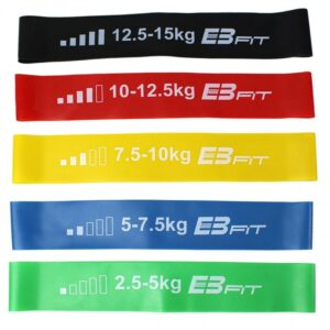Set of exercise bands Fitnnes Crosfit mini Band 5in1 EB FIT 1028842