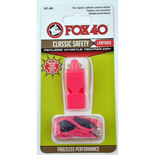 FOX Classic whistle + string 9903-0408 pink