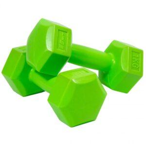 Composite dumbbell set EB FIT 2x1kg green 1027012
