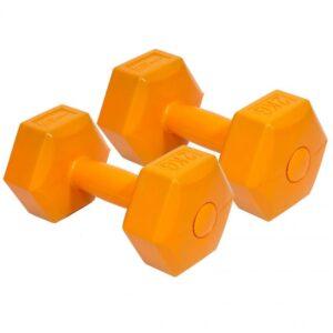 Composite dumbbell set EB FIT 2x2kg orange 1027029
