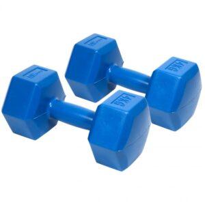 Composite dumbbell set EB FIT 2x4kg blue 1027043