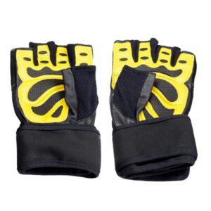 Black / Yellow HMS RST01 rS gym gloves