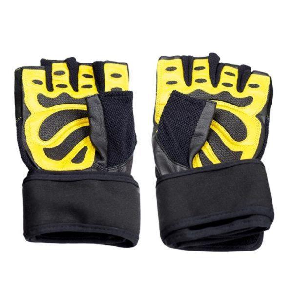 Gym gloves Black / Yellow HMS RST01 XXL
