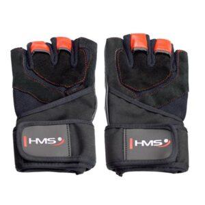 Black / Red HMS RST01 rS gym gloves