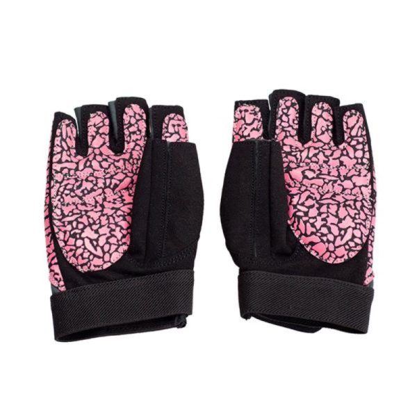 Gloves for the gym Pink / Gray W HMS RST03 rL