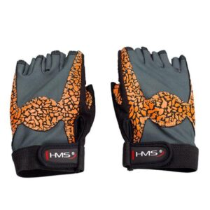 Gloves for the gym Oragne / Gray W HMS RST03 rS