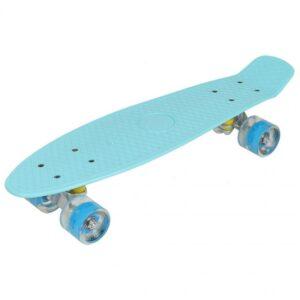 "Plastic Skateboard 22 ""Led Enero blue 1007366"