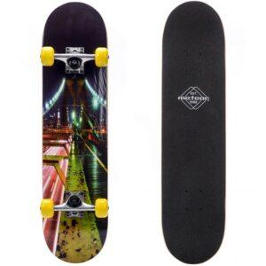 Wooden Meteor Bridge green-pink-black 22645 skateboard